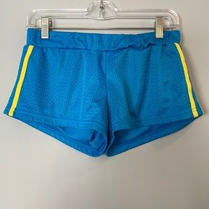 Victoria Blue with Yellow Stripe Shorts, Medium